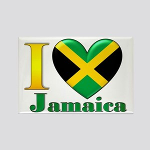 I love Jamaica Rectangle Magnet
