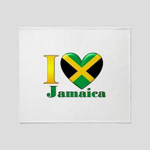 I love Jamaica Throw Blanket