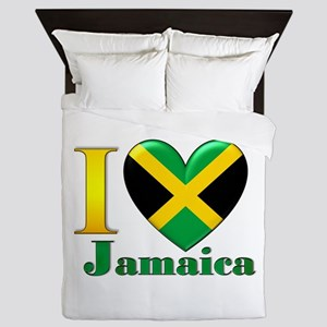 I love Jamaica Queen Duvet