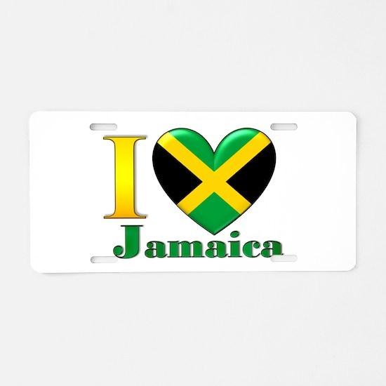 I love Jamaica Aluminum License Plate