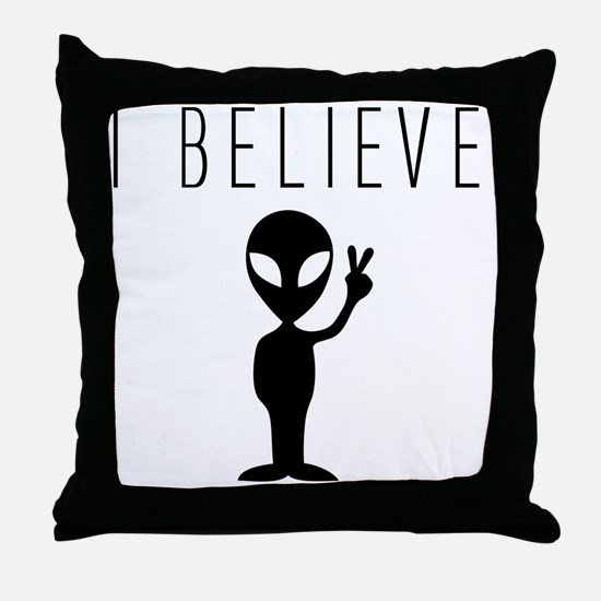 Unique Ufos Throw Pillow