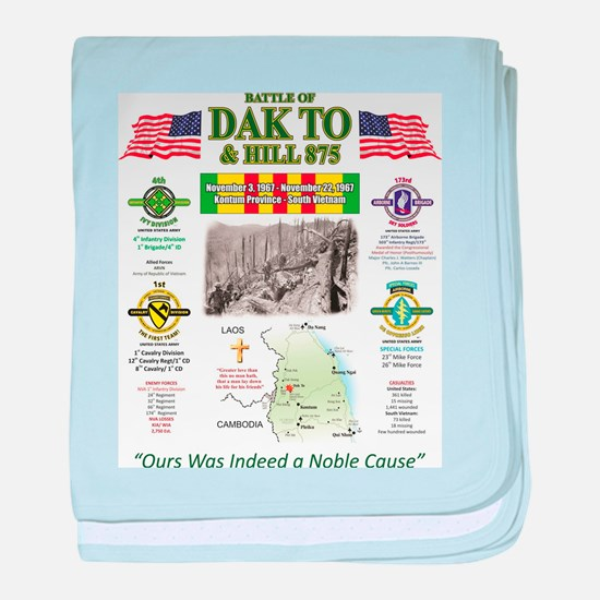 THE BATTLE OF DAK TO SOUTH VIETNAM baby blanket