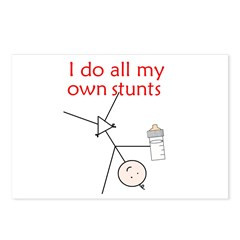 STUNT BABY Postcards (Package of 8)