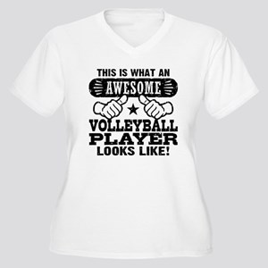 Awesome Volleybal Women's Plus Size V-Neck T-Shirt