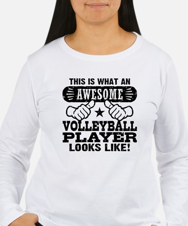 Awesome Volleyball Pla T-Shirt