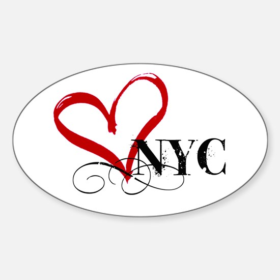 LOVE NYC FANCY Decal