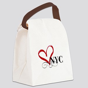LOVE NYC FANCY Canvas Lunch Bag