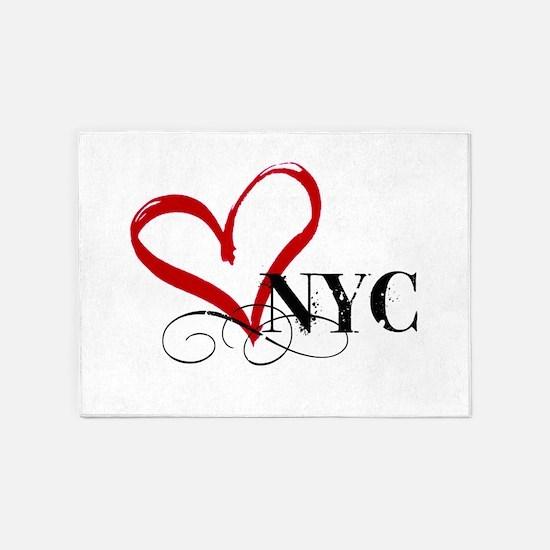 LOVE NYC FANCY 5'x7'Area Rug