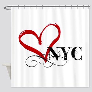 LOVE NYC FANCY Shower Curtain