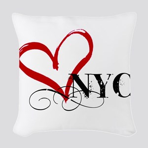 LOVE NYC FANCY Woven Throw Pillow