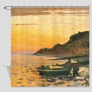 Seacoast at Sainte-Adresse, Sunset Monet Shower Cu