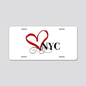 LOVE NYC FANCY Aluminum License Plate
