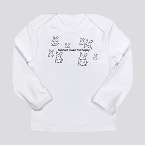 Bunnies Make Me Hoppy Long Sleeve T-Shirt