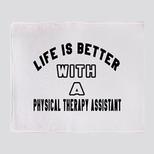 Physical Therapy Assistant Designs Throw Blanket