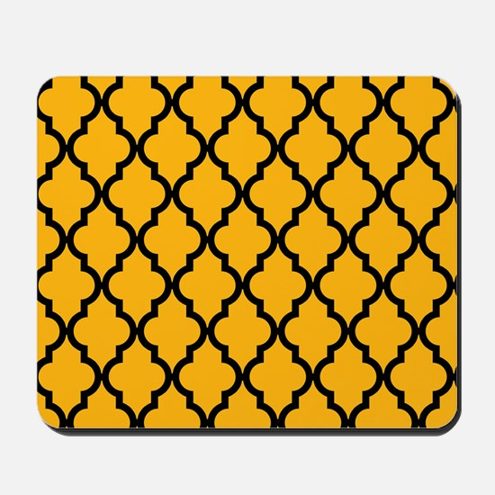 Moroccan Pattern: Gold & Black Mousepad
