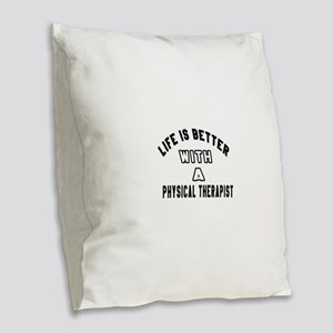 Physical Therapist Designs Burlap Throw Pillow
