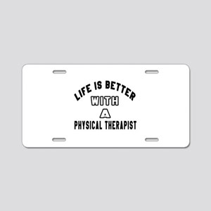 Physical Therapist Designs Aluminum License Plate