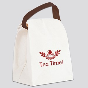 Tea Time Canvas Lunch Bag