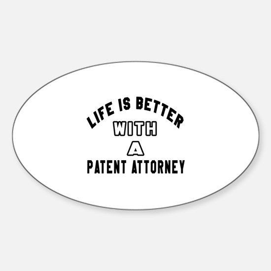 Patent Attorney Designs Sticker (Oval)
