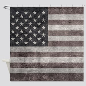 USA flag, vintage retro style with Shower Curtain