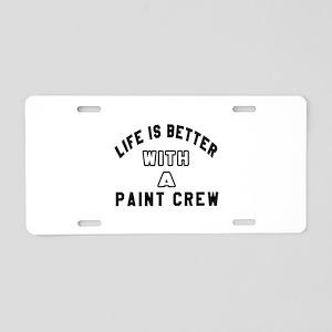 Paint Crew Designs Aluminum License Plate