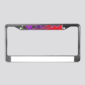 Colorful Trip License Plate Frame