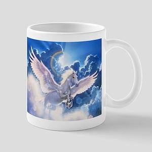 pegasus flying high Stainless Steel Travel Mugs