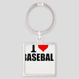 I Love Baseball Keychains