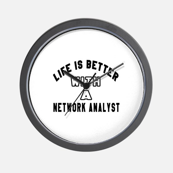 Network Analyst Designs Wall Clock