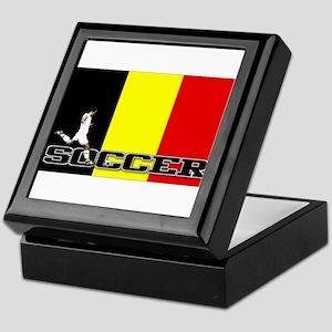 Belgium Flag Soccer Keepsake Box