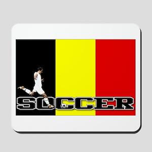 Belgium Flag Soccer Mousepad