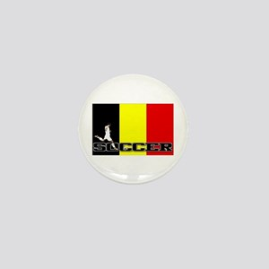 Belgium Flag Soccer Mini Button