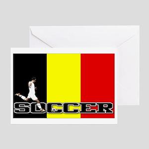 Belgium Flag Soccer Greeting Card