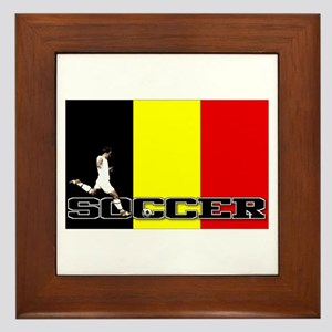 Belgium Flag Soccer Framed Tile