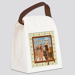 Griffon Bruxellois Dog Breed Canvas Lunch Bag