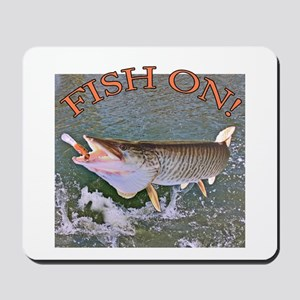 Fish on musky Mousepad