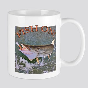 Fish on musky Mug
