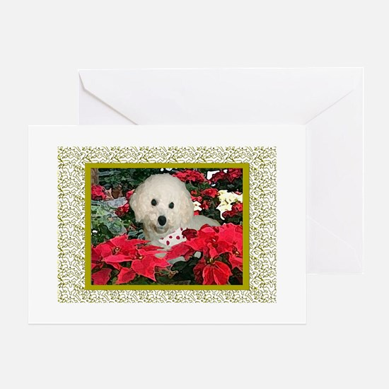 Bichon Frise Christmas Greeting Cards (Package of