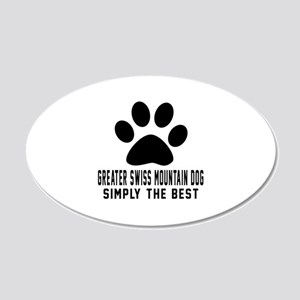 Greater Swiss Mountain Dog S 20x12 Oval Wall Decal