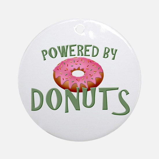 Powered By Donuts Ornament (Round)