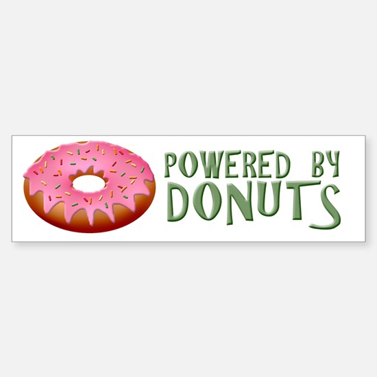 Powered By Donuts Sticker (Bumper)