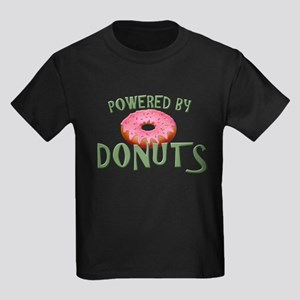 Powered By Donuts Kids Dark T-Shirt