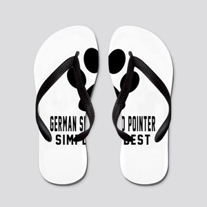 German Shorthaired Pointer Simply The B Flip Flops