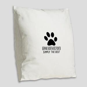 German Shorthaired Pointer Sim Burlap Throw Pillow