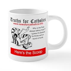 Pope talking poop Mugs
