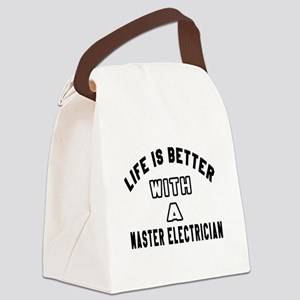 Master Electrician Designs Canvas Lunch Bag