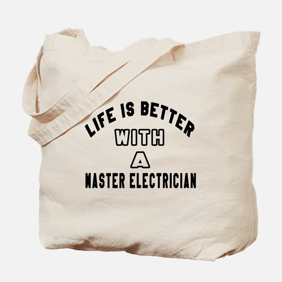 Master Electrician Designs Tote Bag