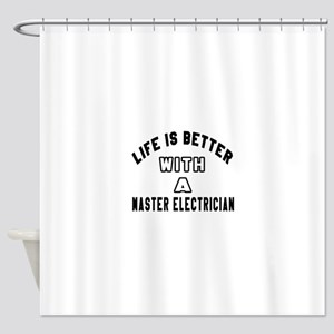 Master Electrician Designs Shower Curtain
