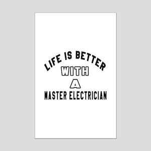 Master Electrician Designs Mini Poster Print