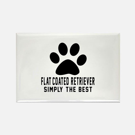 Flat-Coated Retriever S Rectangle Magnet (10 pack)